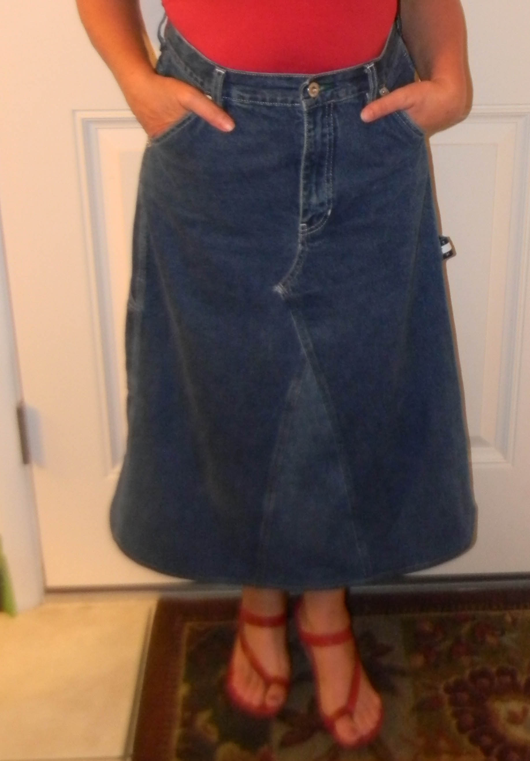 Skirt Made From Jeans