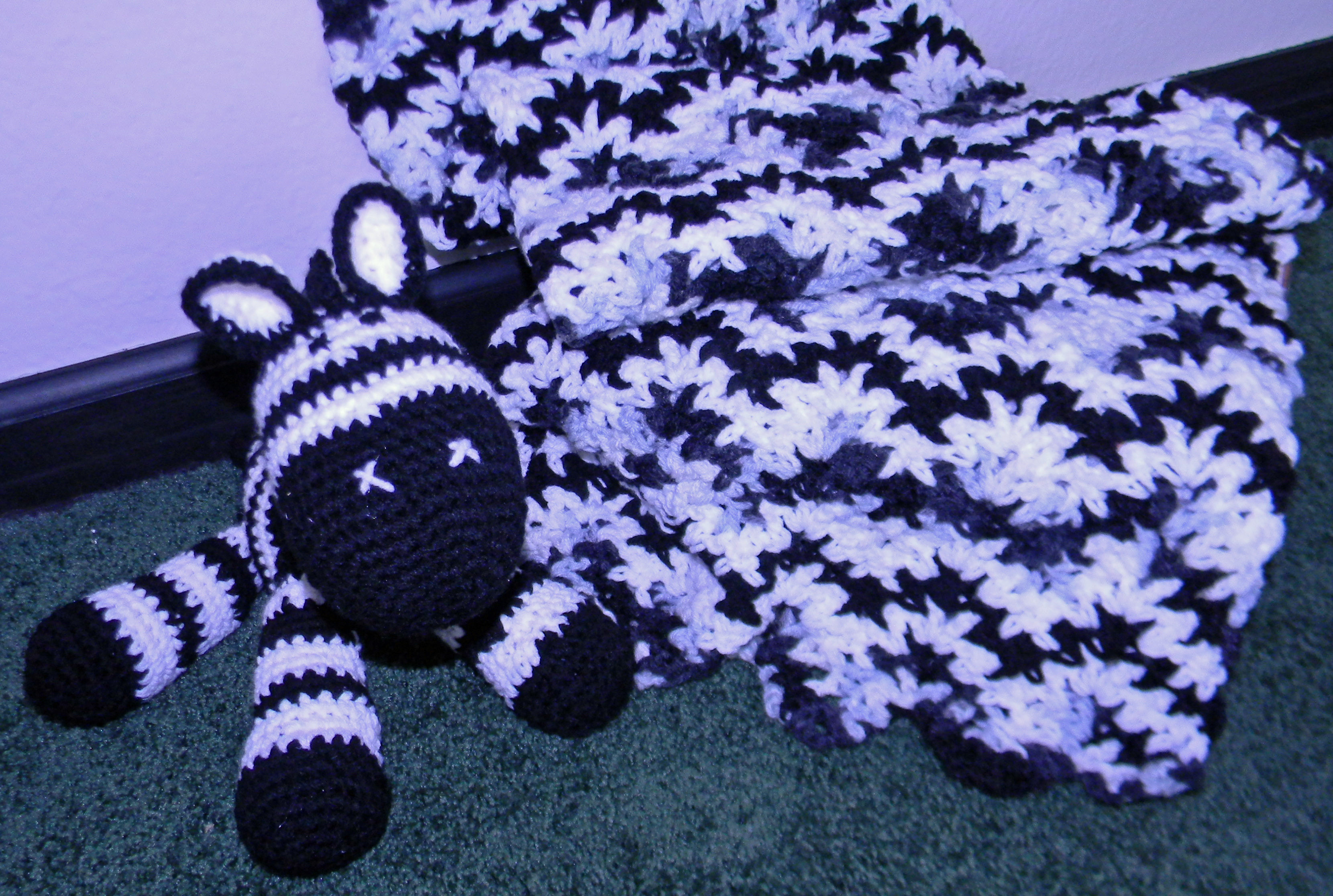 Zebra Crocheted Baby Blanket and Toy | lifewithkeo