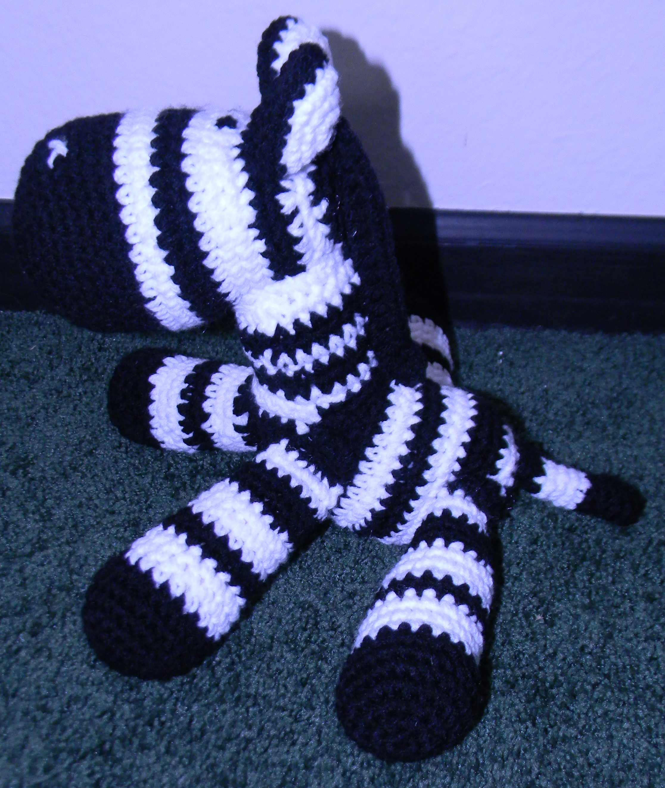 Crochet Zebra Blanket : The baby blanket pattern was purchased from churchmouseyarns.com on ...
